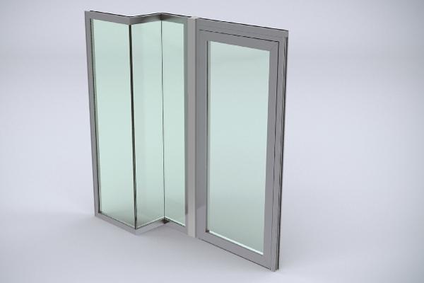 Porte aluminium coupe-feu à rupture de pont thermique Wicstyle 77 FP ; Wicona propose 3 types de joints seuils : automatique, joint lèvre en EPDM ou sans système d'étanchéité. ©Wicona