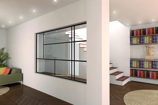 Profil 317 pour séparation en verre design ©Clipper Diffusion